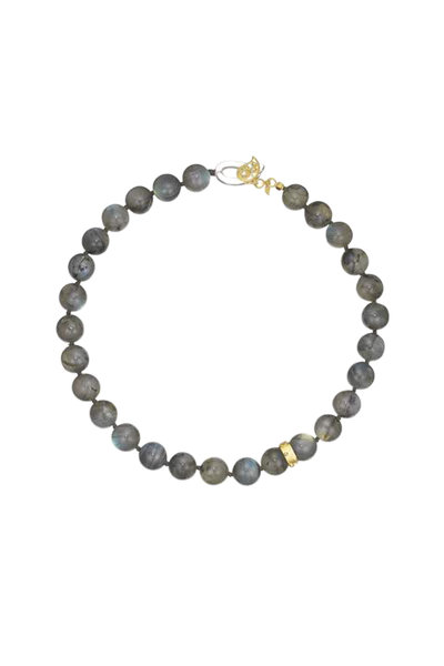 Coomi - 20K Yellow Gold Labradorite Antiquity Necklace