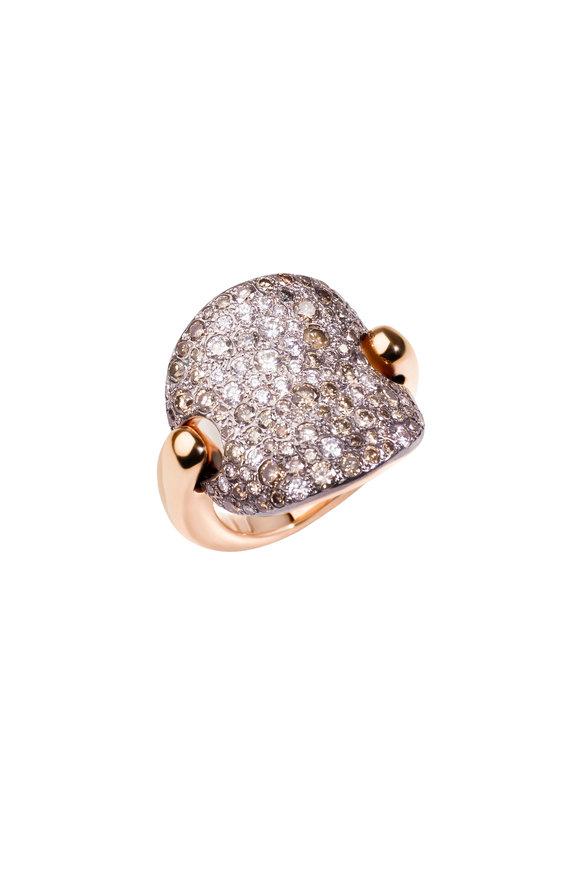 Pomellato 18K Rose Gold Brown Diamond Sabbia Ring
