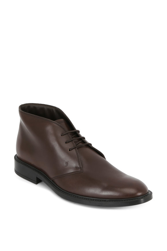 Tod's Dark Brown Leather Chukka Boot