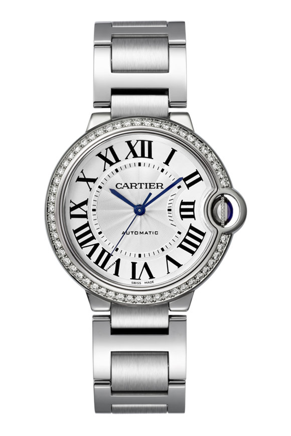 Cartier Ballon Bleu Diamond Lined Watch
