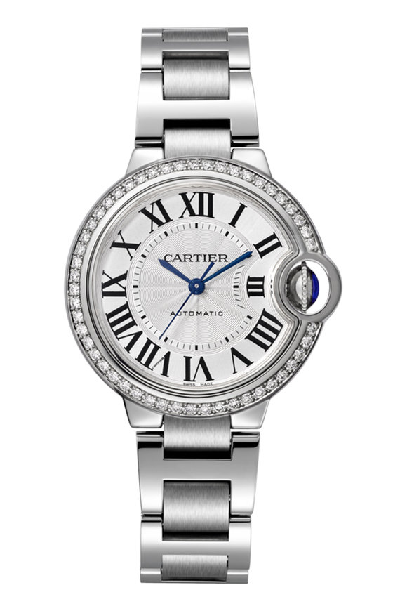 Cartier Circle Diamond Lined Watch