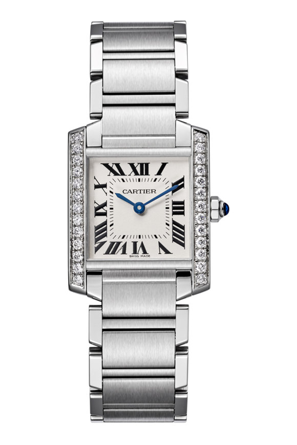 Cartier Tank Diamond Lined Watch