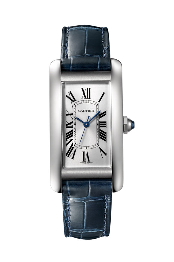 Cartier Blue & Steel Watch