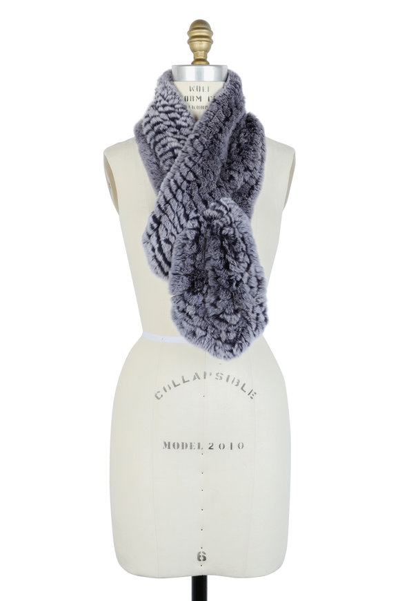Viktoria Stass Purple Rex Rabbit Knit Scarf