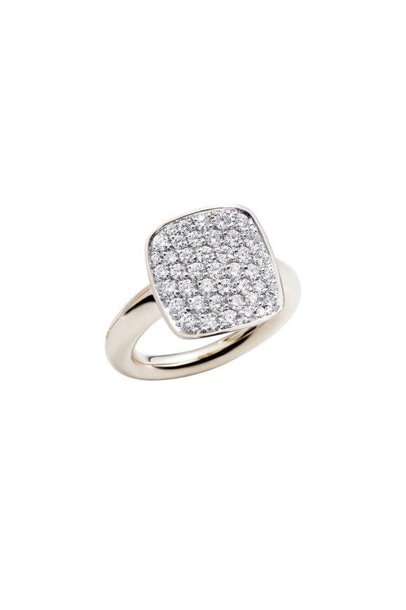 Vhernier 18K White Gold Diamond Cardinale Piccolo Ring