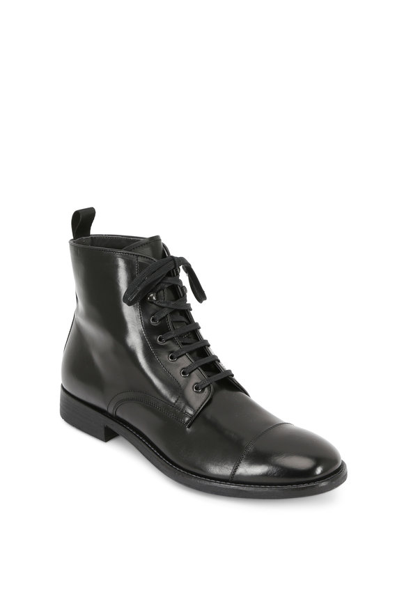 To Boot New York Bondfield Black Polished Leather Boot