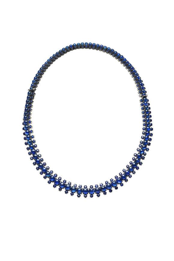 Nam Cho 18K White Gold Sapphire Snake Necklace