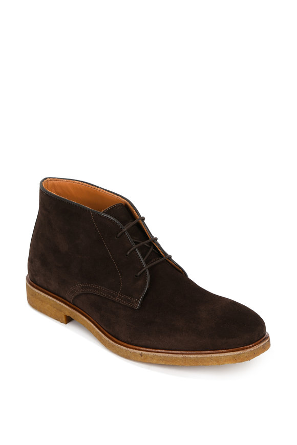 Bruno Magli Chavez Brown Suede Chukka Boot