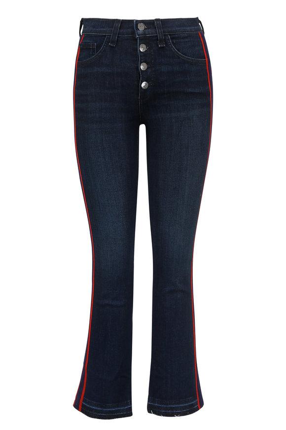 Veronica Beard Carolyn Navy & Red Tux Striped Baby Boot Jean
