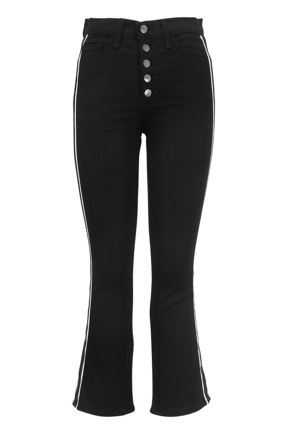 Veronica Beard Carolyn Black Tux Striped Baby Boot Jean