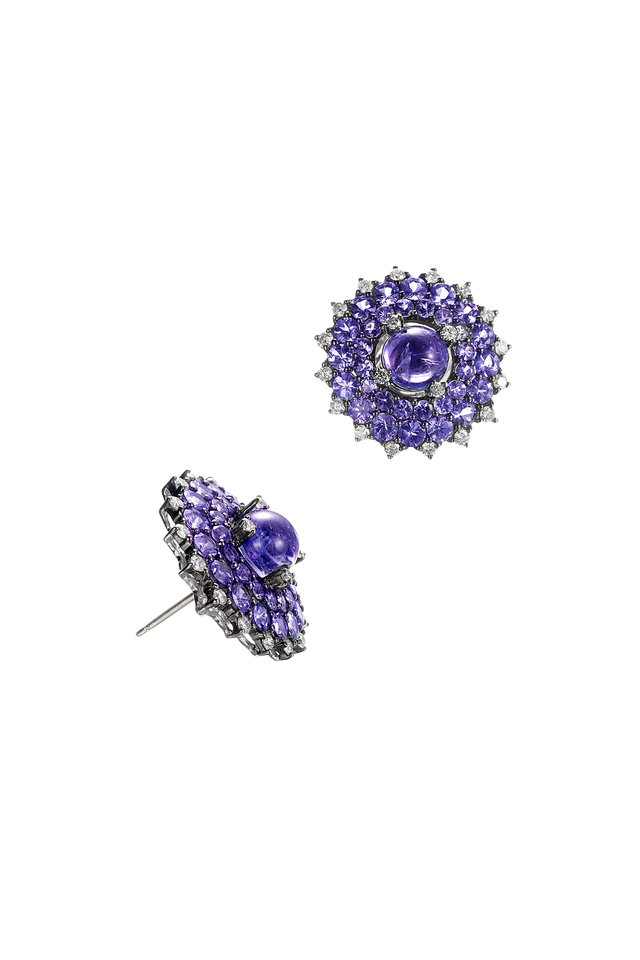 Tanzanite Sunburst Earrings