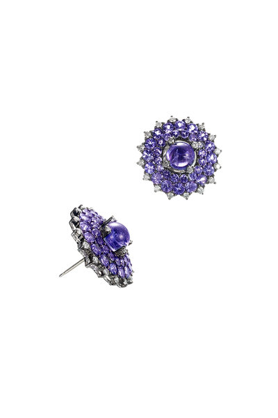 Nam Cho - Tanzanite Sunburst Earrings