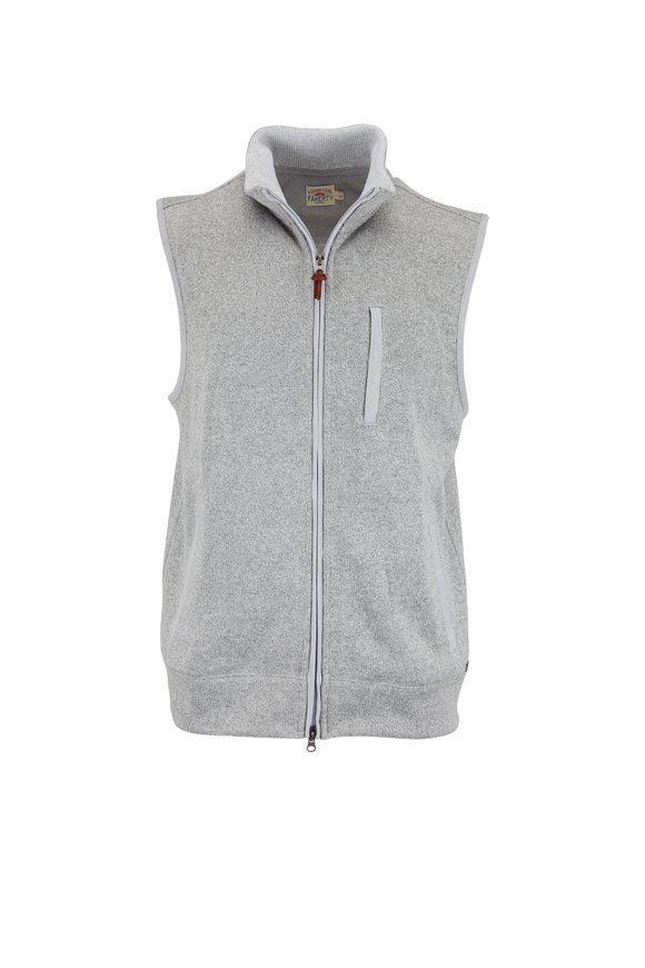 Faherty Brand Bridger Range Gray Fleece Vest