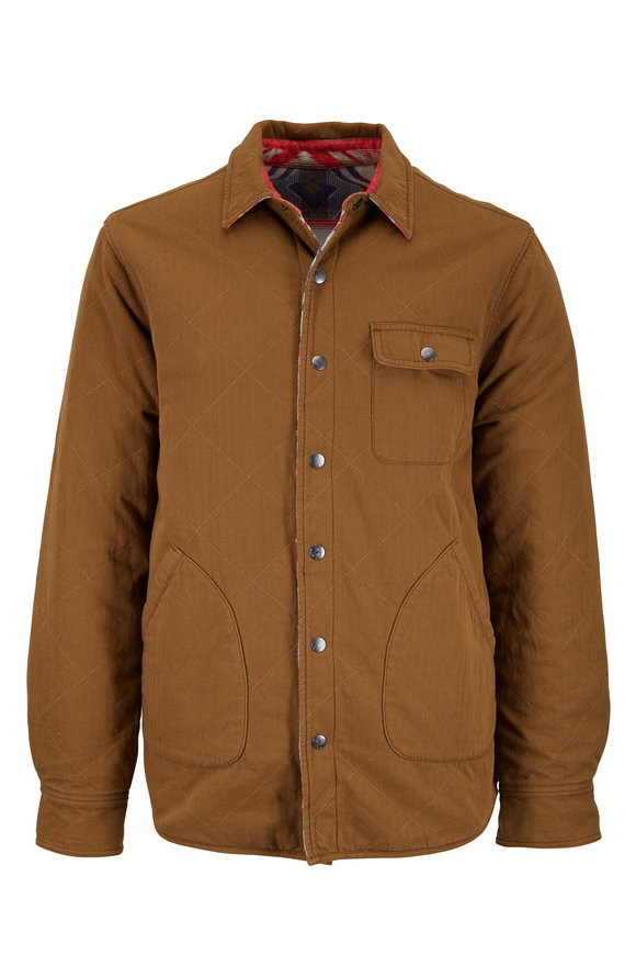 Faherty Brand Bondi Ghurka & Aztec Print Reversible Jacket
