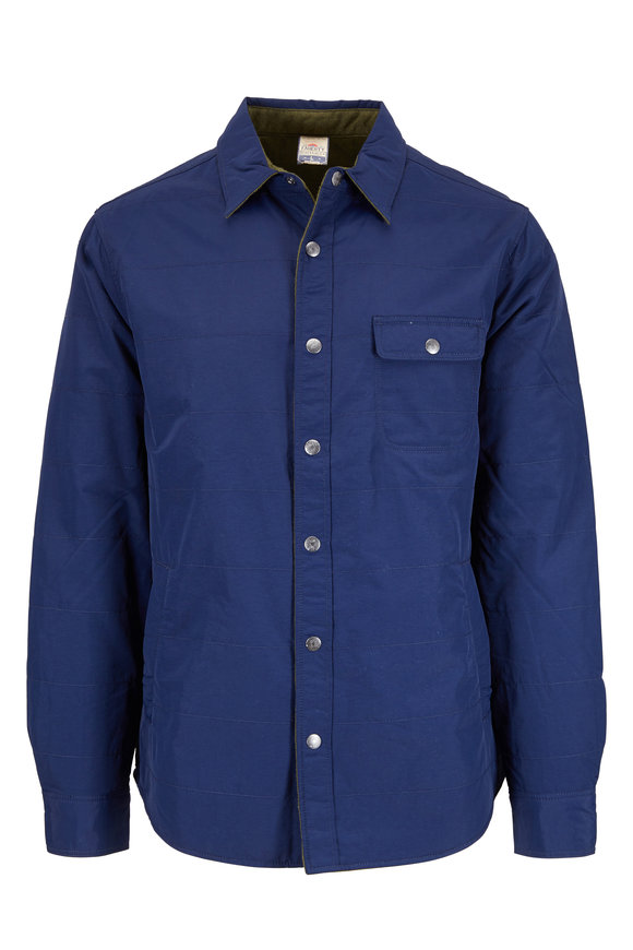 Faherty Brand Morning Tour Navy & Olive Reversible Jacket