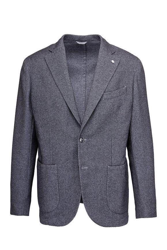 Lubiam Grey Herringbone Sportcoat