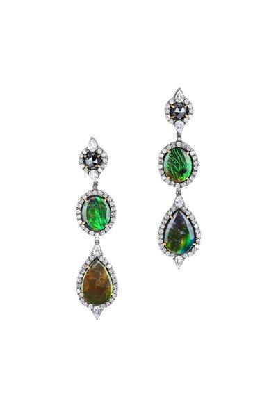 Loren Jewels - 18K Gold & Silver White Sapphire Earrings