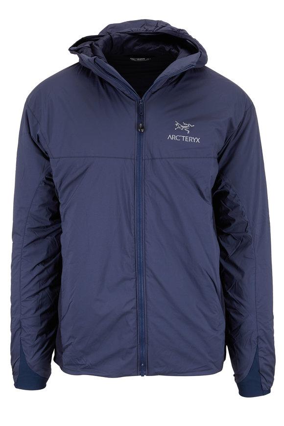 Arc'teryx Atom Night Hawk Blue Nylon Hooded Jacket