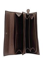 Bottega Veneta - Metallic Dark Brown Intrecciato Leather Wallet