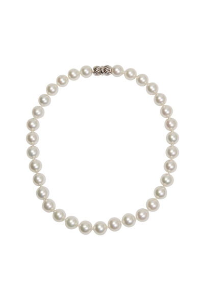 Assael - White Gold White South Sea Pearl Necklace