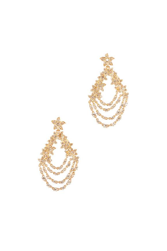 Oscar de la Renta Gold Starfish Chandelier Earrings