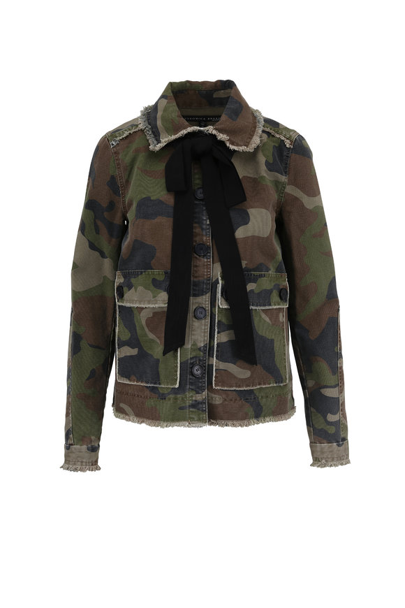 Veronica Beard Mercer Camo Print Army Jacket