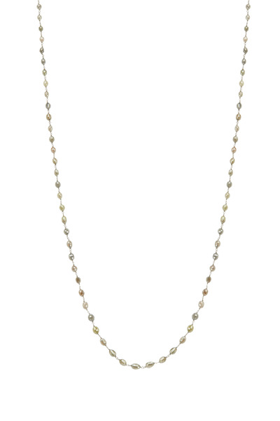 Kathleen Dughi - Gold Gray & Brown Diamond Bead Chain Necklace