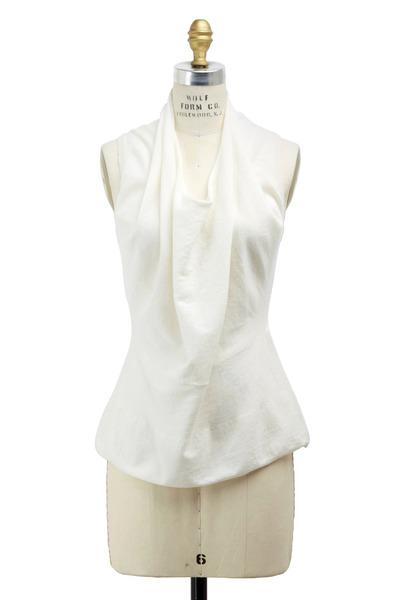 Raffi - White Cotton & Cashmere Sweater