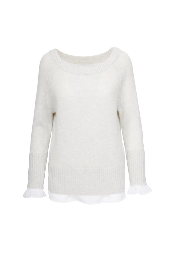 Brochu Walker Flores Layered Off-The-Shoulder Sweater