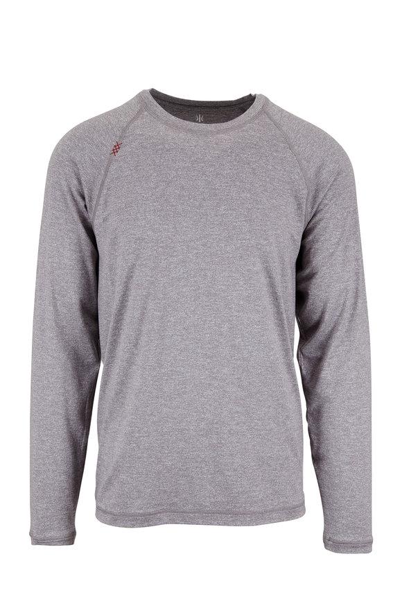 Rhone Apparel Reign Legacy Gray Crewneck Long Sleeve Shirt