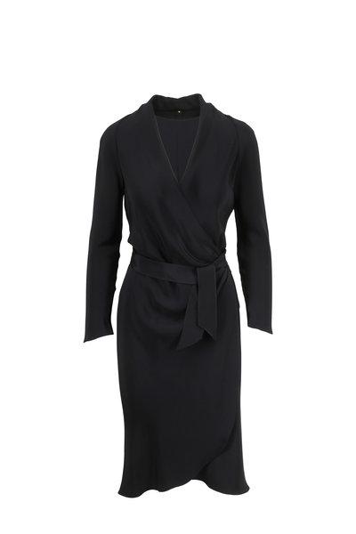 Peter Cohen - Black Silk Wrap Dress
