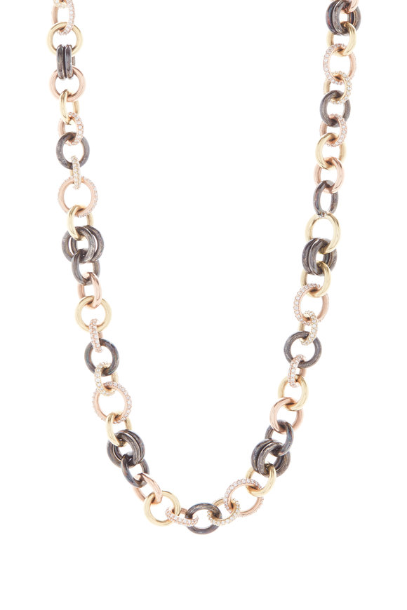 Spinelli Kilcollin 18K Yellow & Rose Gold Diamond Corona Necklace