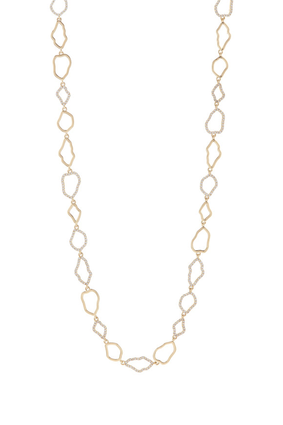 Kimberly McDonald 18K Yellow Gold Diamond Signature Outline Necklace
