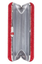 Judith Leiber - Red Crystal Slim Slide-Lock Clutch