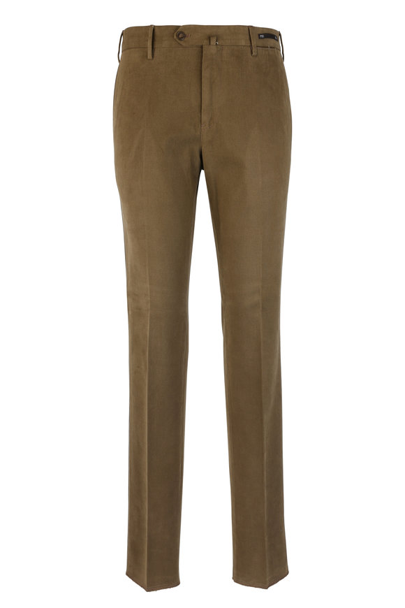 PT01 Brown Supersoft Stretch Slim Pant