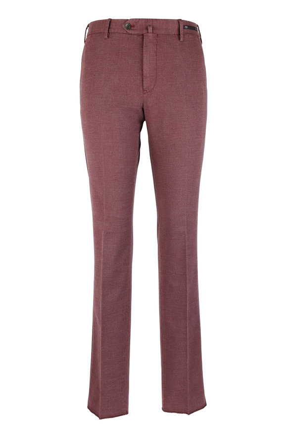 PT01 Red Supersoft Stretch Slim Pant