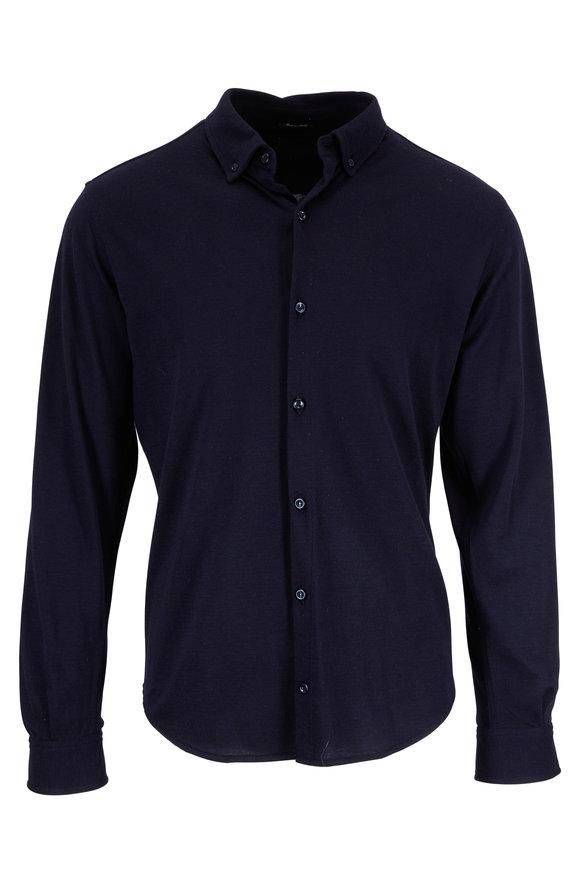 Paul & Shark Navy Blue Sport Shirt