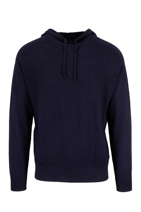 Good Man Brand Navy Blue Merino Wool Athletic Hoodie