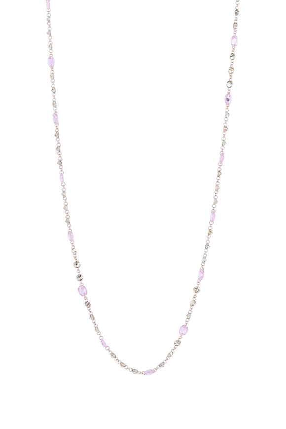 Kai Linz 18K Rose Gold Pink Sapphire & Diamond Necklace