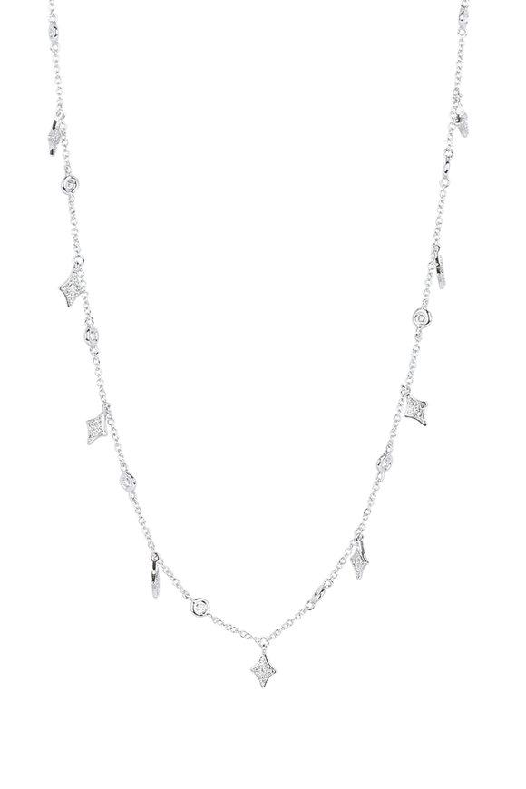 Kai Linz White Gold Pavé Diamond Necklace
