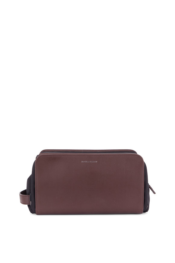 Hook + Albert Brown Leather Dopp Kit