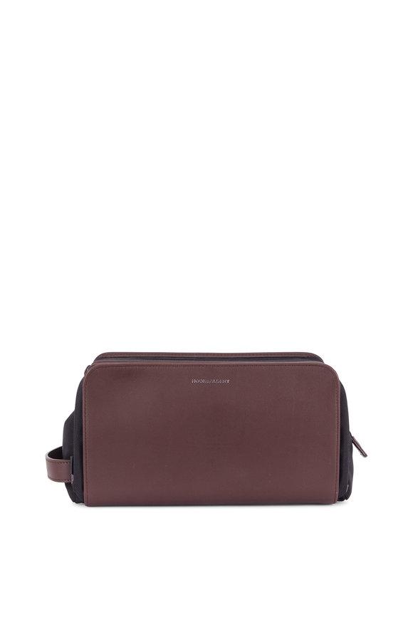 Hook + Albert Brown Leather Dopp Kit