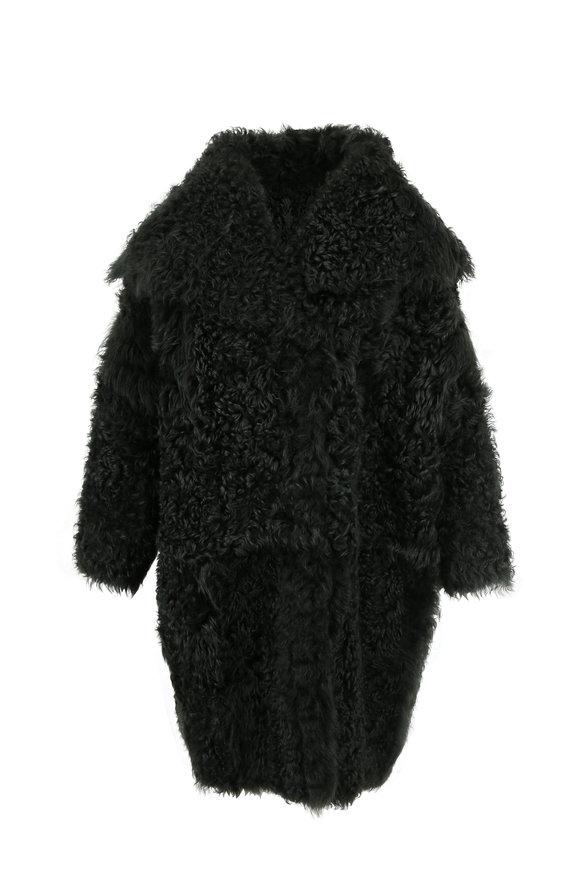 Oscar de la Renta Furs Fern Tigrado Shearling Coat