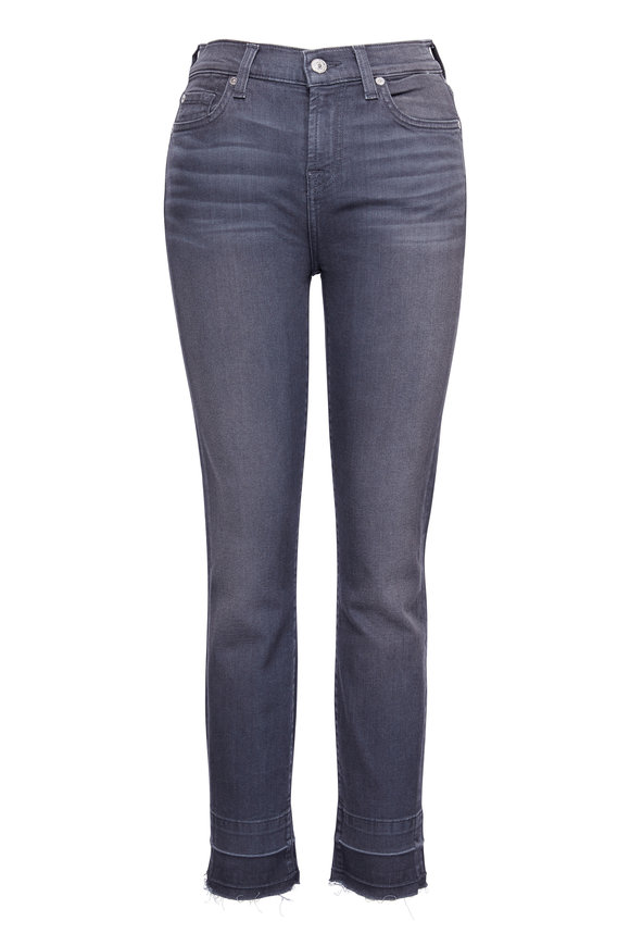 7 For All Mankind Roxanne Grey Released Hem Ankle Pant