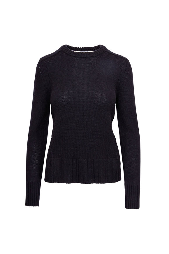 Brochu Walker Keller Black & White Layered Split Back Sweater
