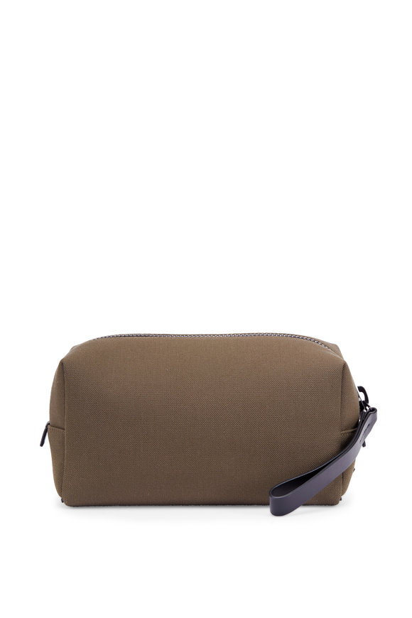 Troubadour Khaki Canvas Dopp Kit