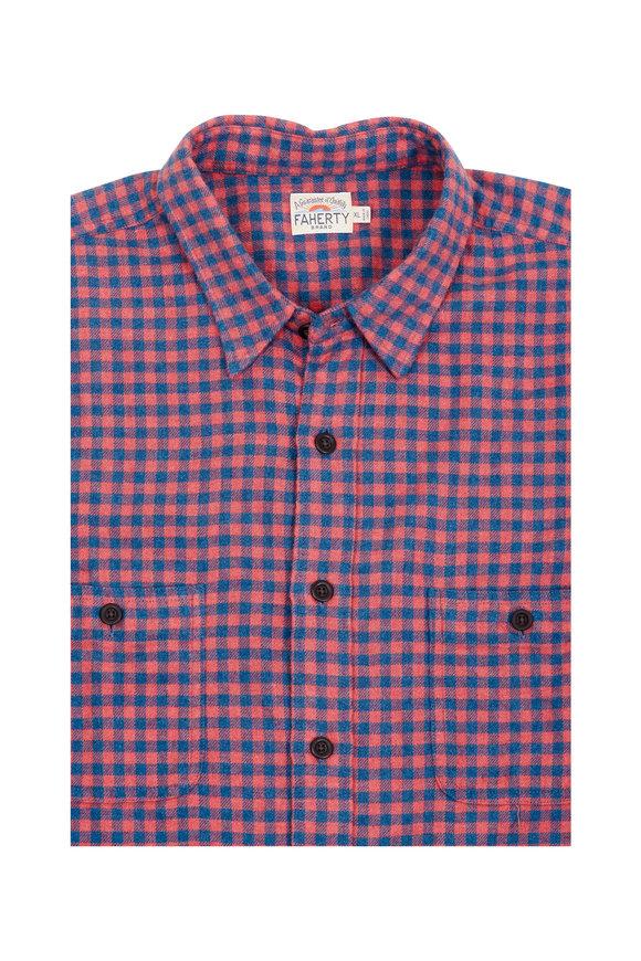 Faherty Brand Seasons Red & Navy Check Sport Shirt