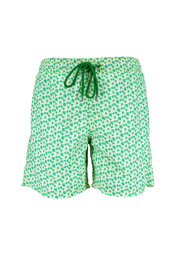 Vilebrequin Moorea Green Hawaii Turtle Swim Trunks