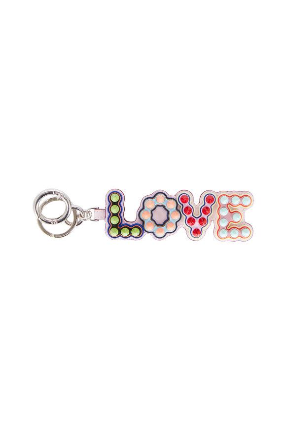 Fendi LOVE Multi-Color Studded USB Charm Key Ring