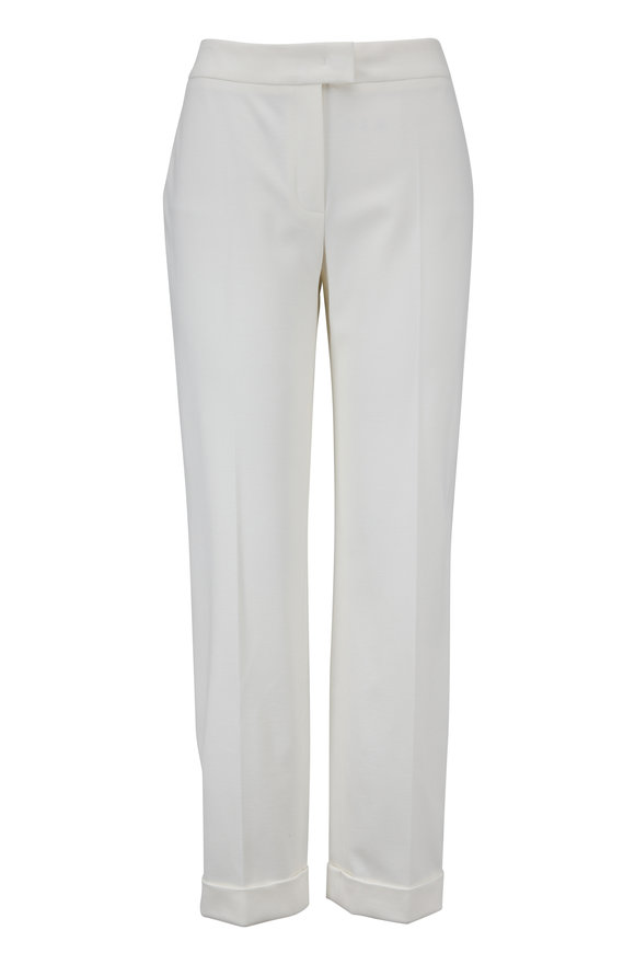 Escada Tatineta Off-White Cuffed Pant
